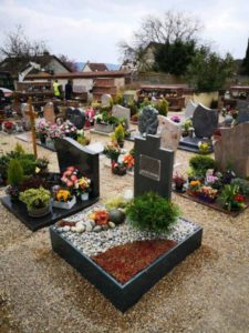 sépultures dans le processus de deuil